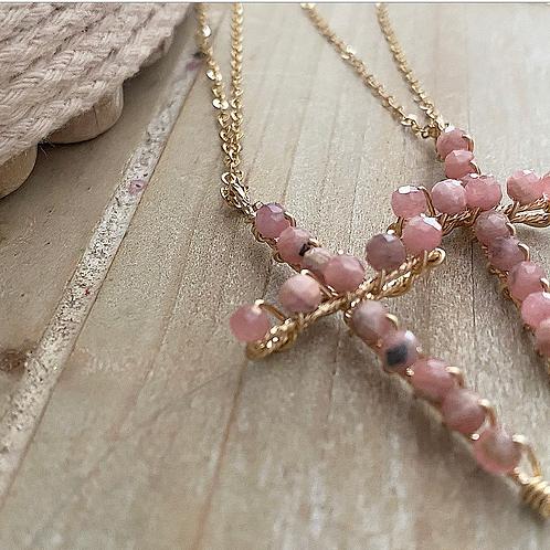 Collier Rock n•2 Pink