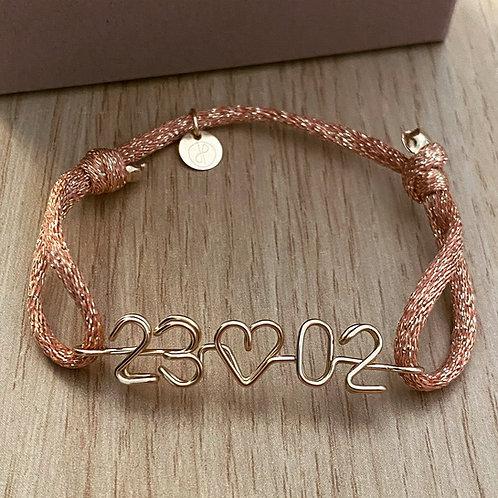 Bracelet date émotion métallisé