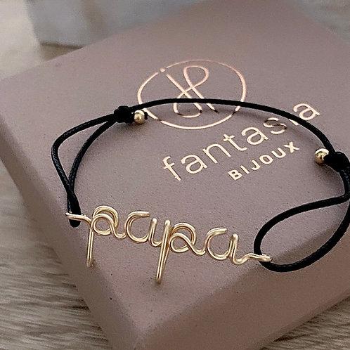 """Bracelet """"Say it"""" original cordon fin homme femme & enfant"""