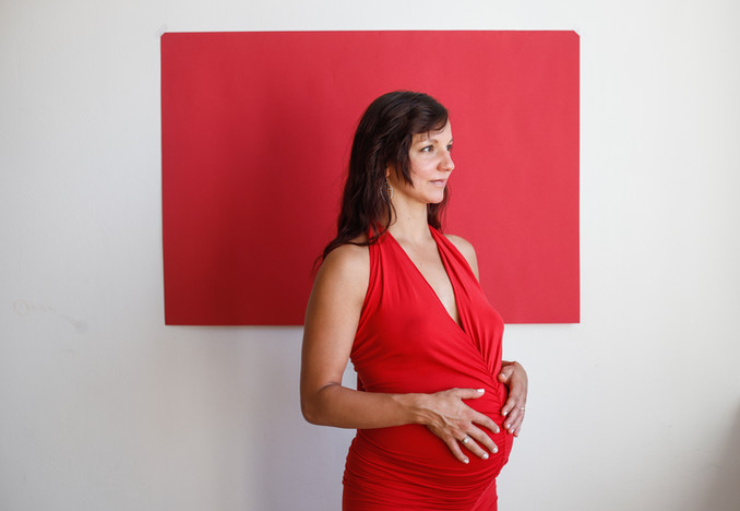 Veronika Tokoly-těhotenské foto