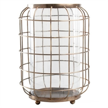 Oxidized Brass Wire Hurricane - medium