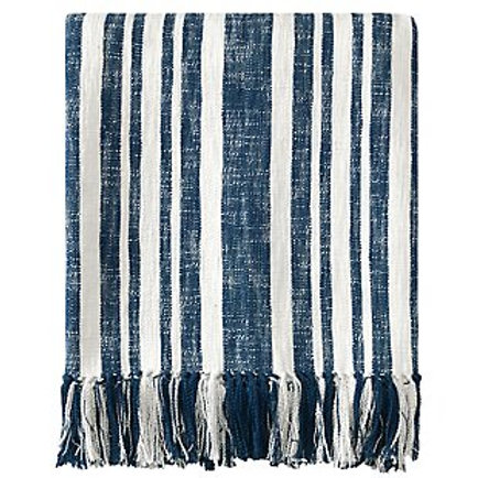 Denim Navy Stripe Throw