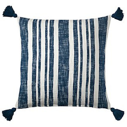 Denim Navy Stripe Pillow