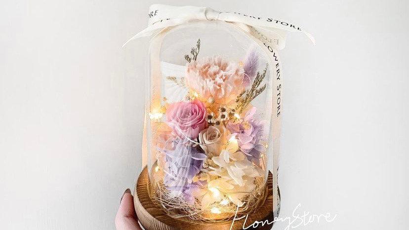 康乃馨玫瑰玻璃瓶