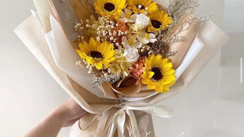 棉紙向日葵花束