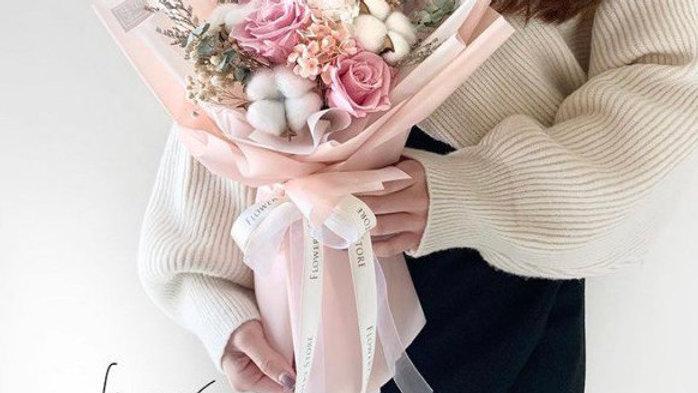 Basic淺粉木棉花束