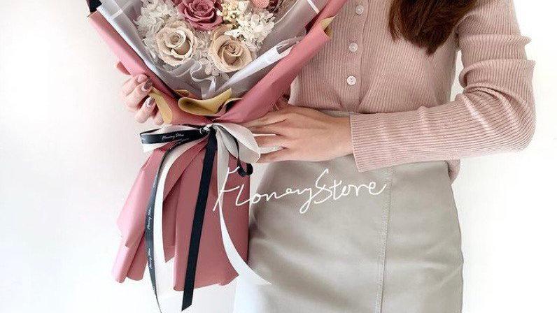 優雅豆沙色tone玫瑰花束