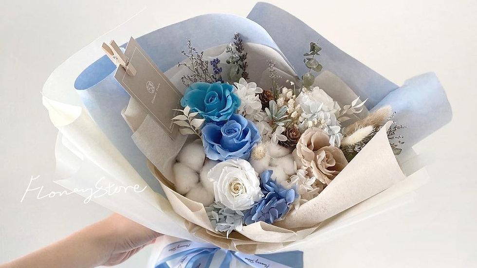 soft blue tone花束