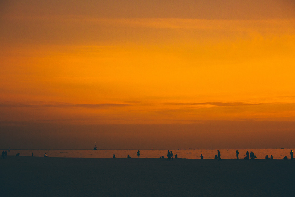 Haeundae Sunset Landscape Evening Silhouette Malaysia Korea Travel Trip Kuala Lumpur Melaka Johor Photography Top Best  Photographer 韓國 旅行 海雲台 釜山 Jens Kv