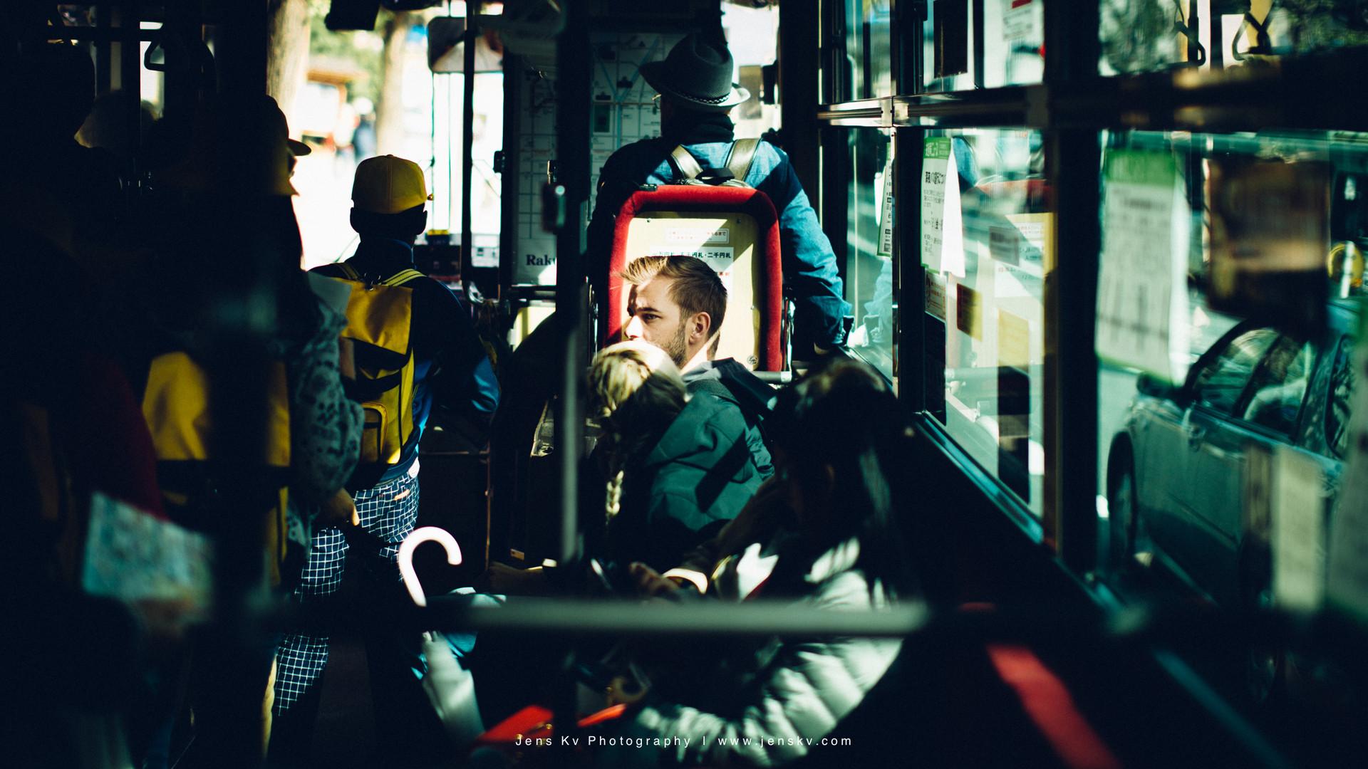 Kyoto, Travel, Trip, Japan, Portrait, Purple, Street, Bus, Sunlight