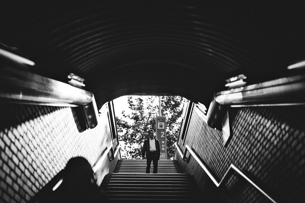 Black and White Busan Station Stair Hope Street Korea Travel Trip Malaysia Kuala Lumpur Melaka Johor Photography Top Best  Photographer 韓國 旅行 釜山 釜山車站 Jens Kv