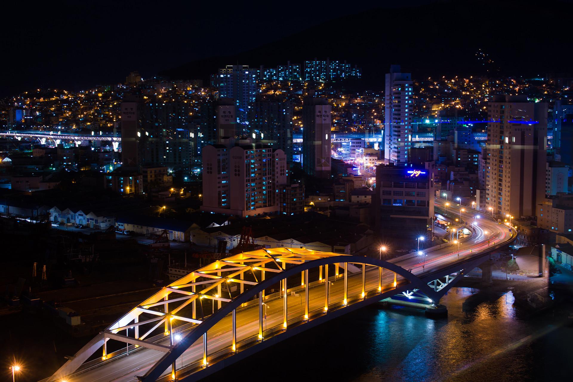 Busan Night Bridge Nightscape Cityscape Korea Travel Trip Malaysia Kuala Lumpur Melaka Johor Photography Top Best  Photographer 韓國 旅行 釜山