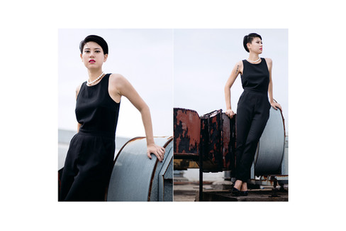 Fashion Molly Mint Boutique Online Black Dress White Sand Portrait Kuala Lumpur Melaka Johor Couple Pre Wedding Photography Top Best  Photographer Jens Kv