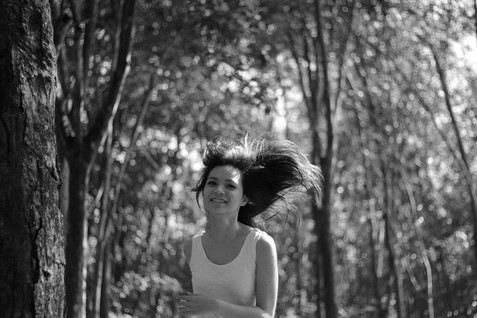 Girl Alone Black and White Running Happiness Portrait Kuala Lumpur Melaka Johor Couple Pre Wedding Photography Top Best Photographer