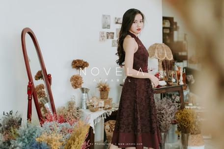 fashion, apparel, studio, shooting, portrait, girl, portrait, cloth, novela, flower, deer deer flower, ashley yee make up