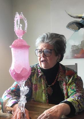 Bubblegum Rose Goblet with Lid