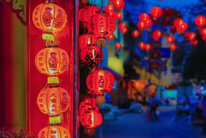 China, Abend, Lampingions