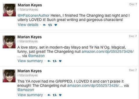 Marian Keyes' praise for Helen Falconer