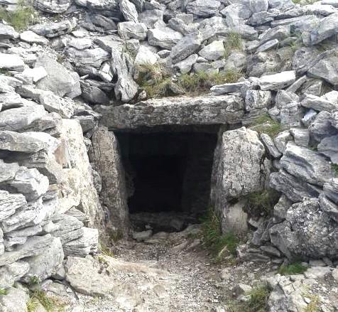 Cairn doorway at Carrowkeel megalithic cemetery, Co Sligo.