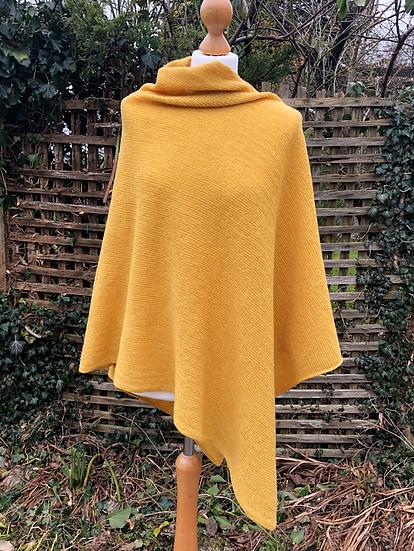 Merino Yellow Poncho