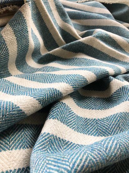 Blue & Oatmeal baby blanket