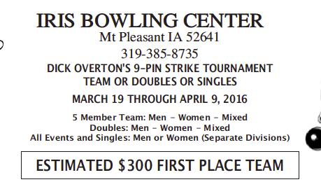 Dick Overton's 9-Pin strike Tournament