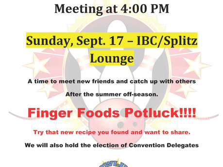 FALL Meeting - ALL Association Members ENCOURAGED to attend!!