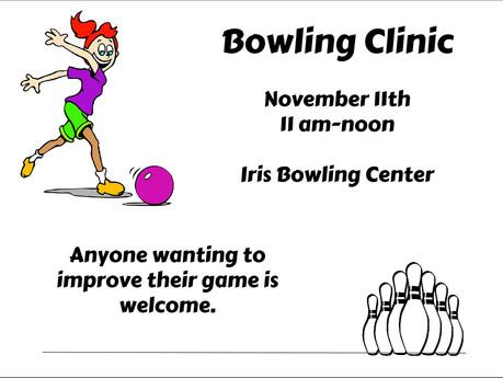 Bowling clinic Nov. 11