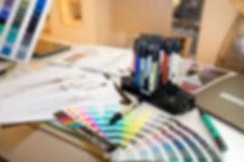 Cartelle colori, pantoni e disegni della stilista Tiziana Sidoti