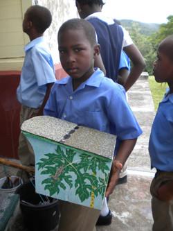 Mt Pleasant school, placing the owlhouse