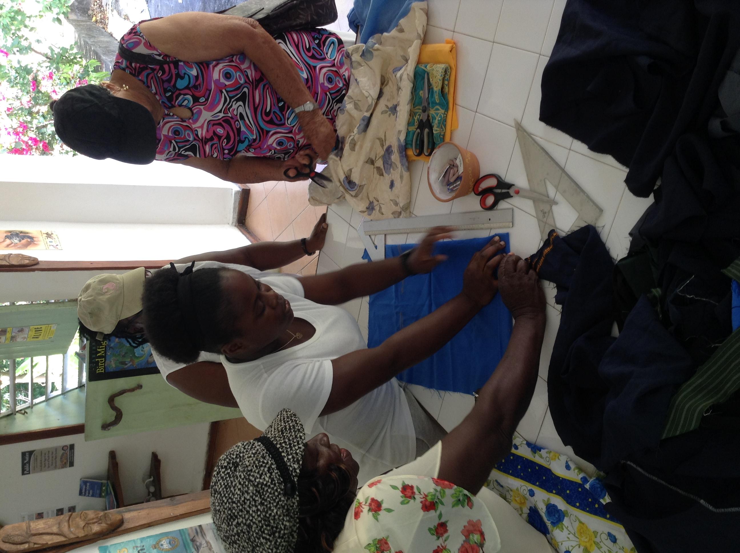 Facilitator Antonia with trainees