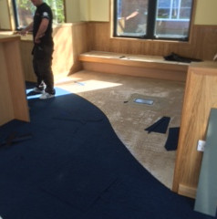 New carpet tiles for Dean Academy
