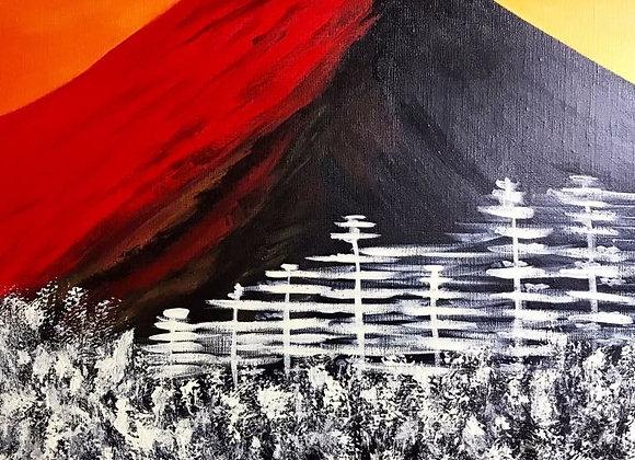 Red Fuji Mountain