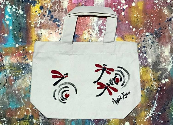 Red Dragonflies Tote Bag