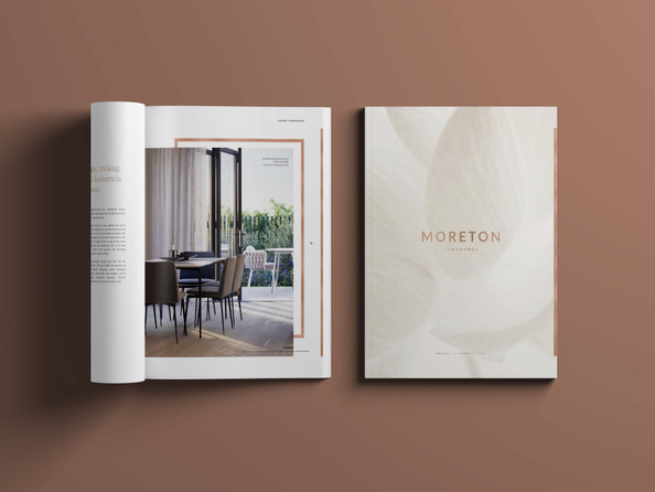 Moreton Townhomes Everton Park, branding by Wall St Creative
