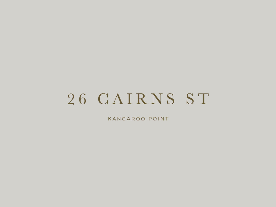 26 Cairns St branding by Wall St Creative