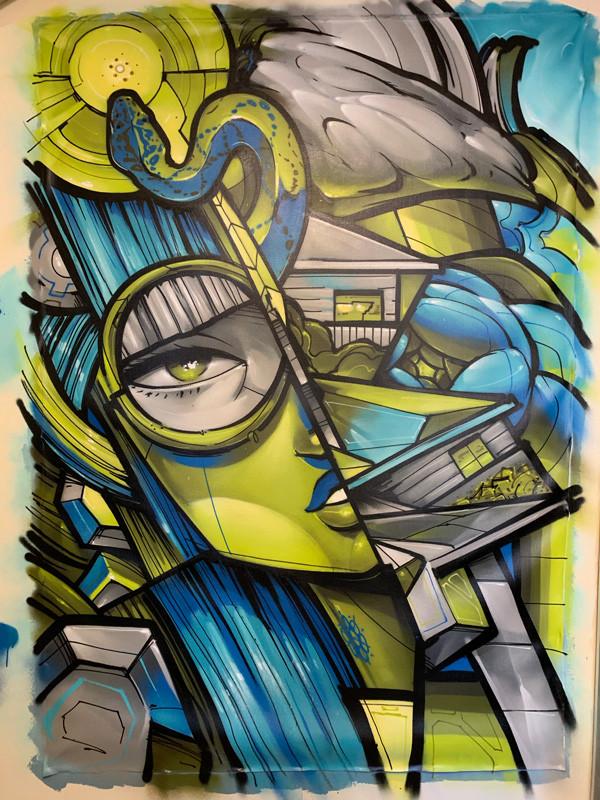 blue green snake canvas_3.jpg