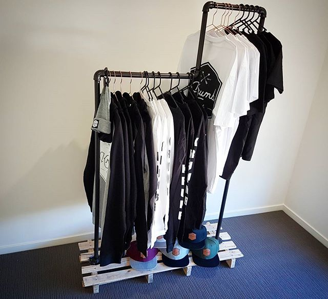Clothes rack all filled up 🤙_Ready for the Heart and Soul festival Sep 24th _Website coming soon__#