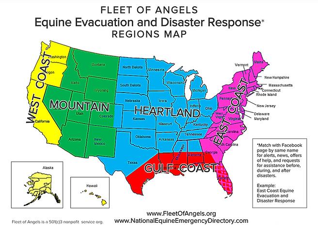 REGIONS MAP - FOA- Equine Evacuaton and