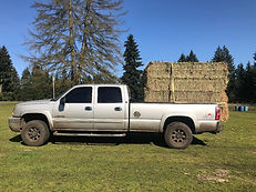 pick-up truck loaded with hay.jfif