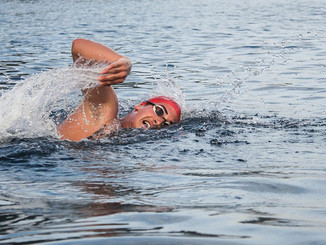 Open water swimming at NCC lakes