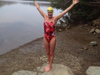 Charlotte Brynn, new course record for Lake George