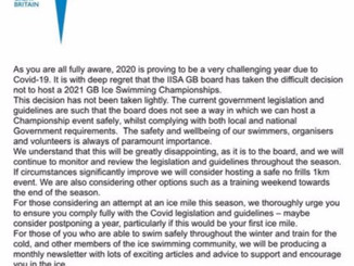IISA GB Newsflash - championship cancelled