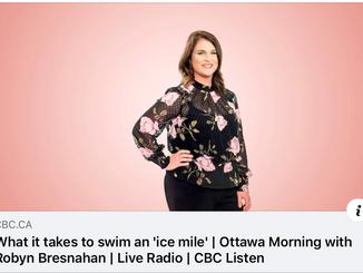 CBC Ottawa Morning: what it takes to swim an 'ice mile'