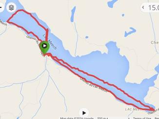 Distance swim, Meech Lake 13.4km