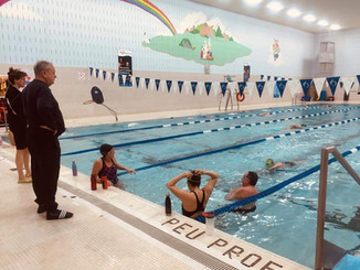 Technosport swim camp coaching