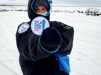 Aimee Jones, first ice mile, 5th Canadian!