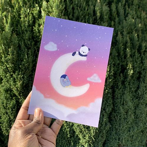 Cresent Moon - A5 Print