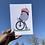 Thumbnail: Strawberry Beret Bicycle - A5 Print