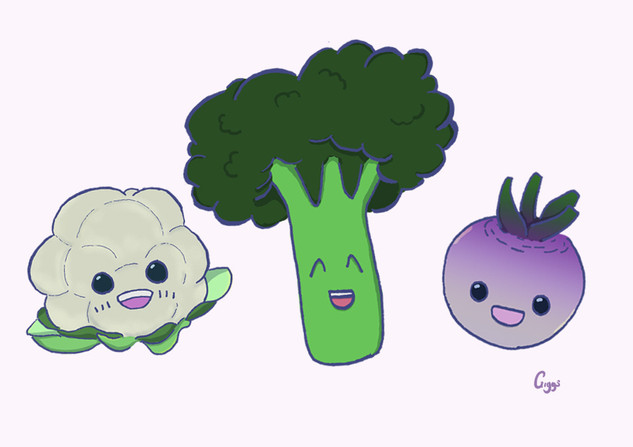 First Tastes Vegitables: Cauliflower, Broccoli, Turnip